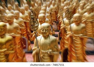 Golden Army, Great Wisdom Temple, Hat Yai, Thailand