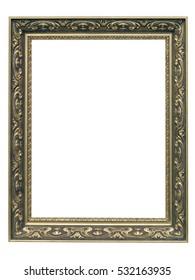 Golden Art Nouveau Frame isolated on white background