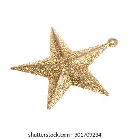 Golden asterisk on white background/Christmas bauble