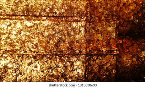 Golden background and texture space  .Art abstract background