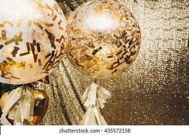 Golden balloons