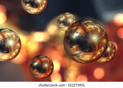 Golden balls in weightlessness