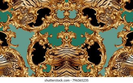 golden baroque and leopard skin