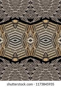 golden baroque ornament .Knitwear Fabric Texture