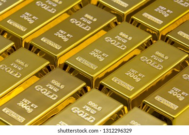 Golden bars as a background Financial concepts