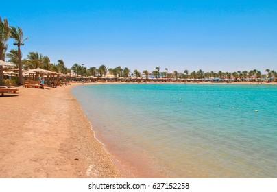 Golden beach in Hurghada, Egypt