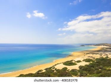 Golden beach of Northern Cyprus