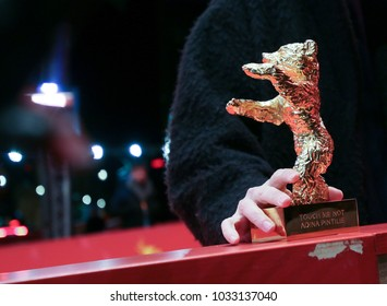 Golden Bear for Best Film for 'Touch me not' poses after the closing ceremony during the 68th Berlinale International Film Festival Berlin at Berlinale Palast on February 24, 2018 in Berlin, Germany.