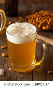 Golden Beer in a Glass Stein for Oktoberfest - Shutterstock ID 314920517