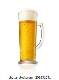 Golden beer splash