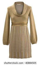 golden beige elegant New Year's holiday gown
