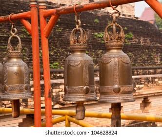 golden bell in thai temple