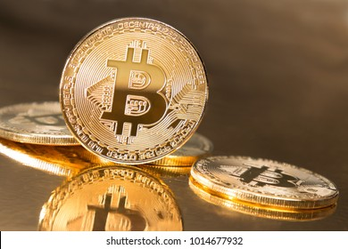 Golden bitcoin symbolising value of cryptocurrencies