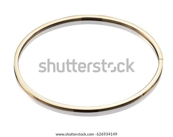 golden bracelet isolated on white background