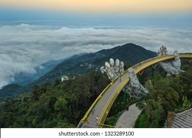 Golden Bridge, danang bana hill, Vietnam ; 17 February  2019