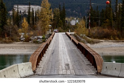 Golden British Columbia Kicking Horse narrow bridge