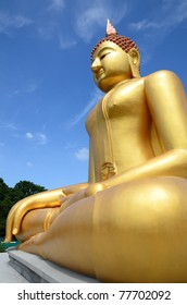 Golden Buddha in the afternoon