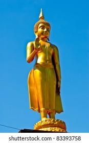 Golden Buddha and Blue Sky