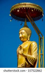 Golden buddha in Lamphun,Thailand