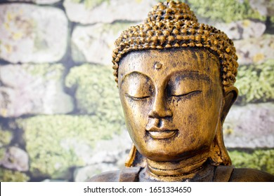 Goldene Buddha-Gebet-Meditation, Nahaufnahme