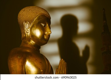 golden buddha and shadow