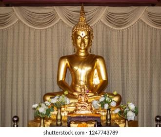 golden buddha statue in bangkok thailand