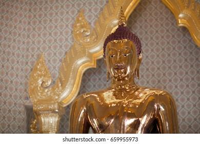 Golden Buddha, statue from the Golden Buddha temple in Bangkok, Thailand