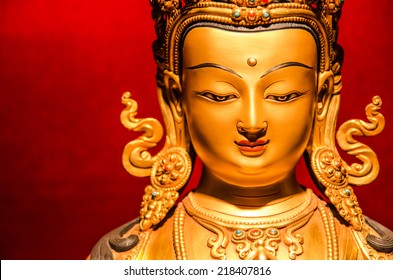 Golden Buddha statue from Tibet