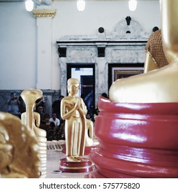 Golden buddha in temple in Thailand