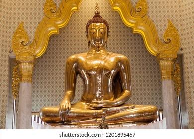 The Golden Buddha at Wat Traimit, Bangkok, Thailand.