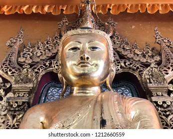 The Golden Buddha in Yangon, Myanmar