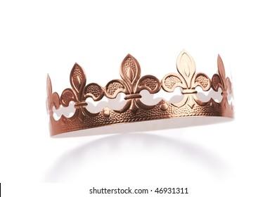 Golden cardboard crown