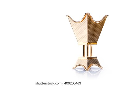 Golden censer isolated on a white background