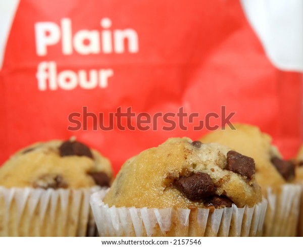 Golden Chocolate Chip Fairy Cake Muffins Food And Drink