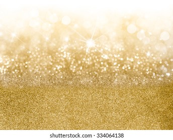 Golden Christmas background with graduated bands of different sparkling and twinkling bokeh from party lights and glitter, full frame copy space for your seasonal greeting