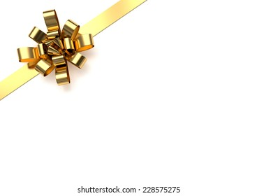 Golden christmas bow