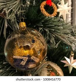 Golden Christmas globe