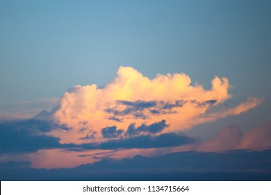 golden clouds in the evening sky