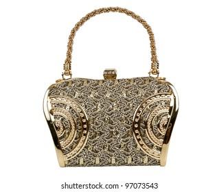 Golden clutch bag