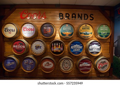 GOLDEN, CO - August 3rd, 2016 - Bucket of hopps from the Coor's Brewery tour n Golden, Colorado. Founded in 1873 it is now the largest single brewery facility in the world.