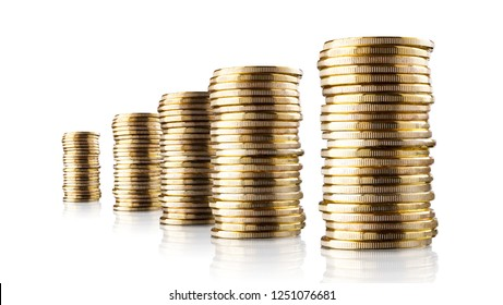 golden coins stacked