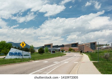 GOLDEN, COLORADO USA - May 26, 2019: The National Renewable Energy Laboratory is a US Department of Energy research facility founded in 1974 and located in Golden, Colorado.