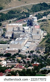 GOLDEN, COLORADO/U.S.A. - SEPTEMBER 13, 2014: Ariel view of Coors Brewing Company in Golden, Colorado.