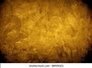 golden concrete wall