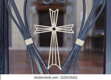 Golden cross. Element of gates