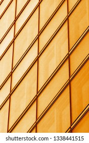 golden crossing lines of a modern building facade, bastract background