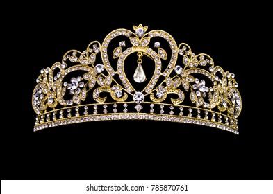 golden crown on a black background