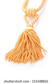 golden curtain tassel interior decoration