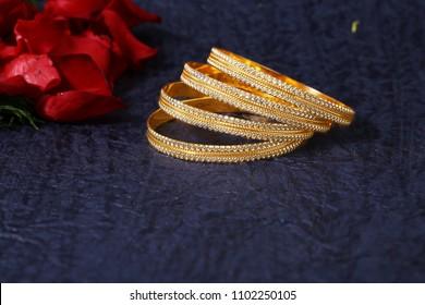 Golden Designer Bangles