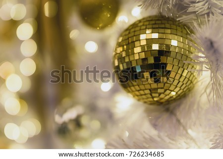Golden Disco Ball On White Tree Stock Photo Edit Now 40 Enchanting Disco Ball Decorations Cheap